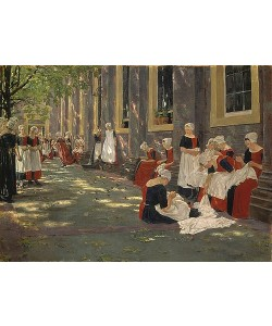 Max Liebermann, Freistunde im Amsterdamer Waisenhaus. 1881/1882