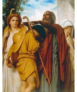 William Adolphe Bouguereau, Tobias' Abschied von seinem Vater. 1860