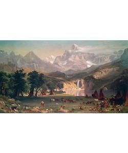 Albert Bierstadt, Indianerlager in den Rocky Mountains.