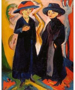 Ernst Ludwig Kirchner, Zwei Damen. 1911-12/1922