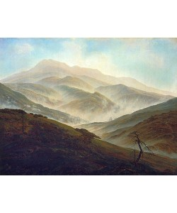 Caspar David Friedrich, Riesengebirgslandschaft mit aufsteigendem Nebel. Um 1820/1821