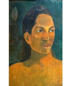 Paul Gauguin, Kopf einer Tahitianerin. Um 1891