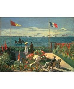 Claude Monet, Die Terrasse am Meeresufer von Sainte-Adresse. 1867