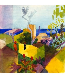 August Macke, Landschaft am Meer. 1914
