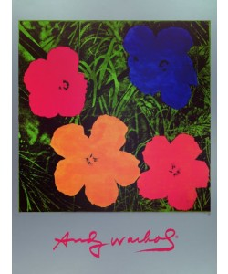 Andy Warhol, Flowers Blau/Rot/Orange/Gelb