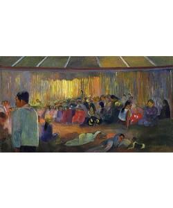 Paul Gauguin, TE FARE HYMENEE (La Maison des Chants / Im Gesangshaus). 1892