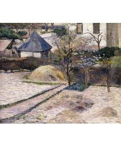 Paul Gauguin, Gärten im Vorfrühling in Rouen (Paysage à Rouen). Um 1884