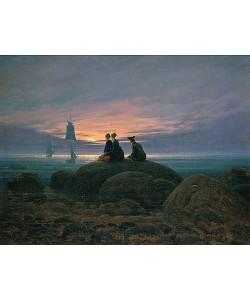 Caspar David Friedrich, Mondaufgang am Meer (Pendant zu Bildnummer 479). 1822