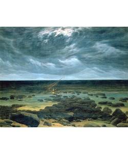 Caspar David Friedrich, Meeresküste bei Mondschein
