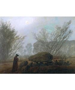 Caspar David Friedrich, Spaziergang i.d.Abenddämmerung (Mann in Betrachtung eines Hühnengrabes)