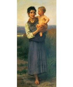 William Adolphe Bouguereau, Mutter mit Kind auf dem Arm. 1887