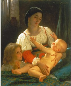 William Adolphe Bouguereau, Nach dem Erwachen.