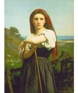 William Adolphe Bouguereau, Die Hirtin. 1868