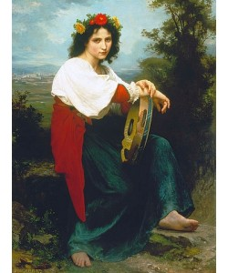 William Adolphe Bouguereau, Italienerin mit Tambourin. 1872.