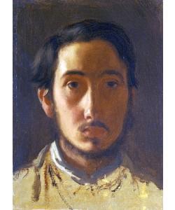 Edgar Degas, Selbstbildnis. Um 1857