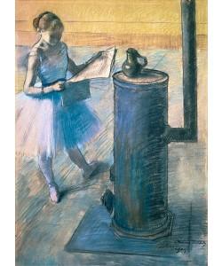 Edgar Degas, Zeitunglesende Tänzerin. Um 1880