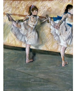 Edgar Degas, Übungen an der Stange. Um 1877-79