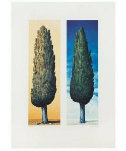 Rasch Folkert 2 Zypressen Rechts (1999) (Lithographie, handsigniert)