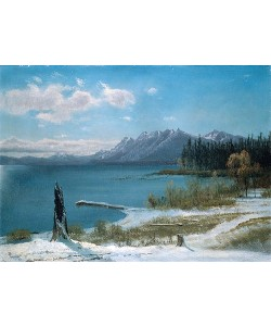 Albert Bierstadt, Winterlicher Lake Tahoe.