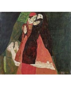 Egon Schiele, Kardinal und Nonne (Liebkosung). 1912