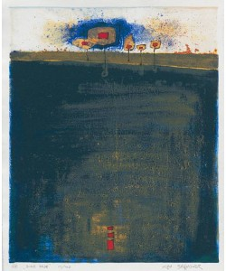Brandner Klaus WVZ908 Blaue Erde (1998) (Siebdruck, handsigniert)