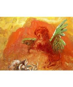 Odilon Redon, Pegasus und die Hydra. 1905