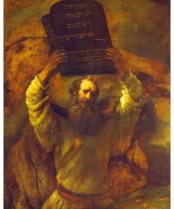 Rembrandt van Rijn, Moses zerschmettert die Gesetzestafeln. 1659