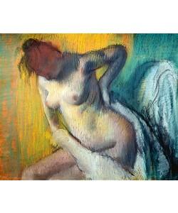 Edgar Degas, Weibliche Figur, sich abtrocknend.