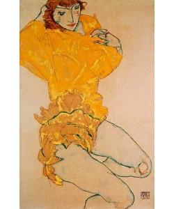 Egon Schiele, Sich entkleidende Frau. 1914