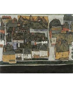 Egon Schiele, Krumau an der Moldau (Die kleine Stadt III). 1914