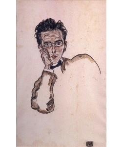 Egon Schiele, Bildnis des Kunsthändlers Paul Wengraf. 1917.
