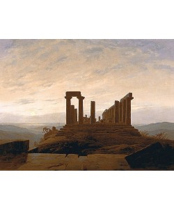 Caspar David Friedrich, Der Junotempel in Agrigent. Um 1830