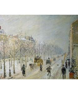 Camille Pissarro, Auf dem Boulevard bei Schneefall.