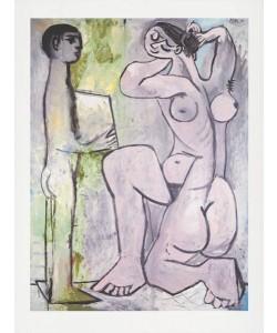 Picasso Pablo La Coiffure (1954) (Frequenzmodulierte Rastertechnik, Bütten)