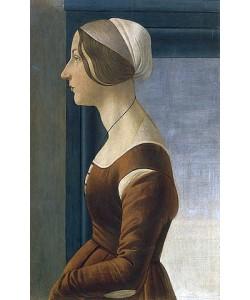 Sandro Botticelli, Bildnis einer Dame mit Kappe (La bella Simonetta).