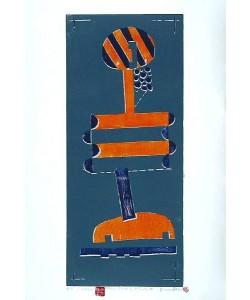Haas Bruno Blauer Mond II (Holzdruck, handsigniert)