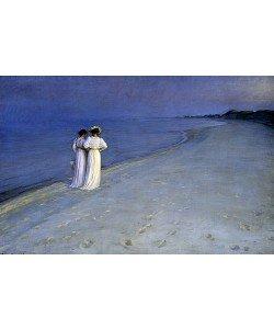 Peter Severin Kroyer, Sommerabend bei Skagen (Anna Ancher und Marie Kroyer am Skagener Südstrand). 1893