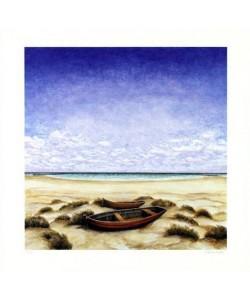 Rasch Folkert Boote am Meer (2001) (Digital, handsigniert)