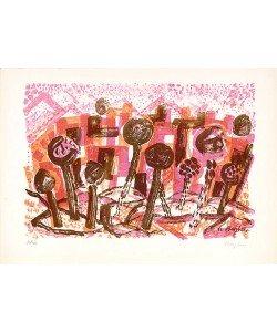 Bargheer Eduard Ohne Titel II (Lithographie, handsigniert)