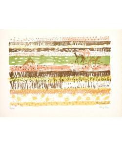 Bargheer Eduard Ohne Titel VI (Lithographie, handsigniert)