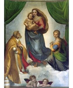 Raffael (Raffaello Sanzio), Die Sixtinische Madonna. 1512/13