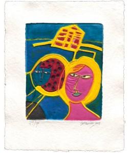 Corneille  Maison jaune (30) (Aquagravure, handsigniert)