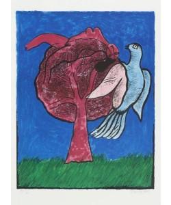 Corneille  Arbre rouge (30) (Lithographie, handsigniert)