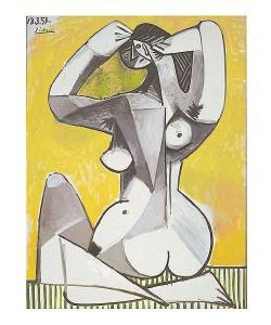 Picasso Pablo Nue accroupie, 1954 (Frequenzmodulierte Rastertechnik)
