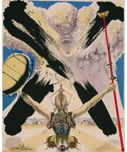 Dali Salvador Don Quichotte1009DerKampf (30) (Lithographie, drucksigniert)
