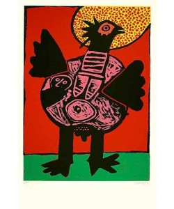 Corneille  Grosser Vogel (30) (Lithographie, handsigniert, nummeriert)