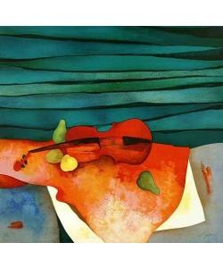 Gaveau Claude Rote Geige (Lithographie, handsigniert)