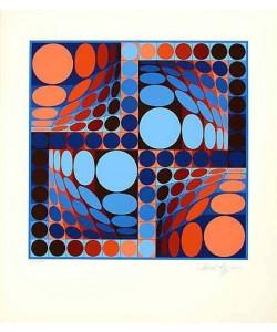 Vasarely Victor Thez II 1980 (Siebdruck, handsigniert)