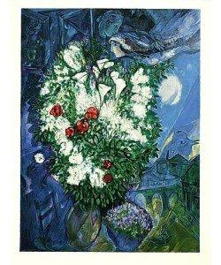 Chagall Marc Liebespaar & Blumen, Prägesig. (Lithographie, nummeriert)
