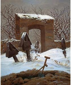 Caspar David Friedrich, Friedhof im Schnee